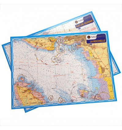 Carte marine A3 plastifiée La Rochelle, pertuis