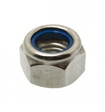 Ecrou nylstop inox 14mm A4 par 2