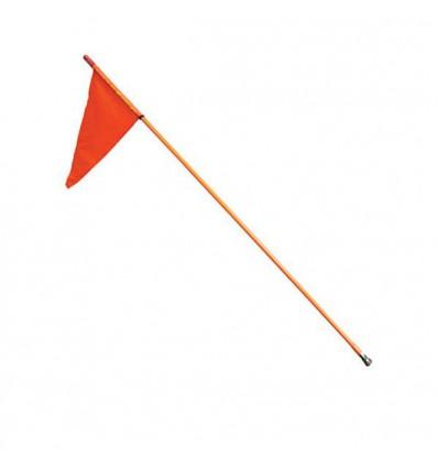 Perche avec drapeau de sécurité