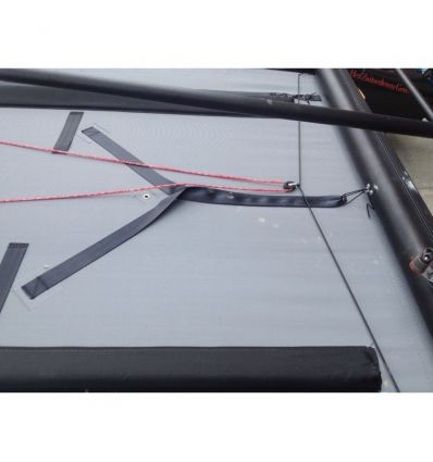 Trampoline de Nacra F20 avec «outkickers»