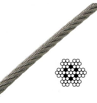 Câble sur mesure - Inox Souple 7x7