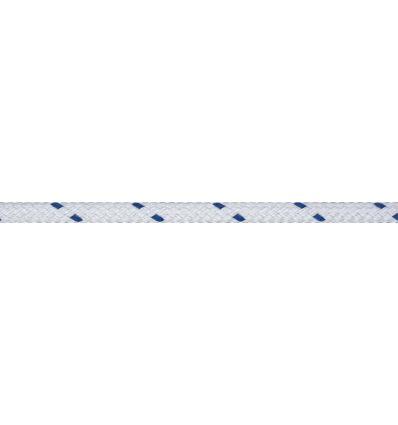 Ecoute Polyester touché Coton Bleu 6mm