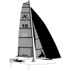 Grand Voile smoke Hobie Wild Cat
